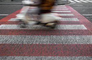 Aangereden door een scooter