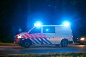 Aanrijding politie-auto